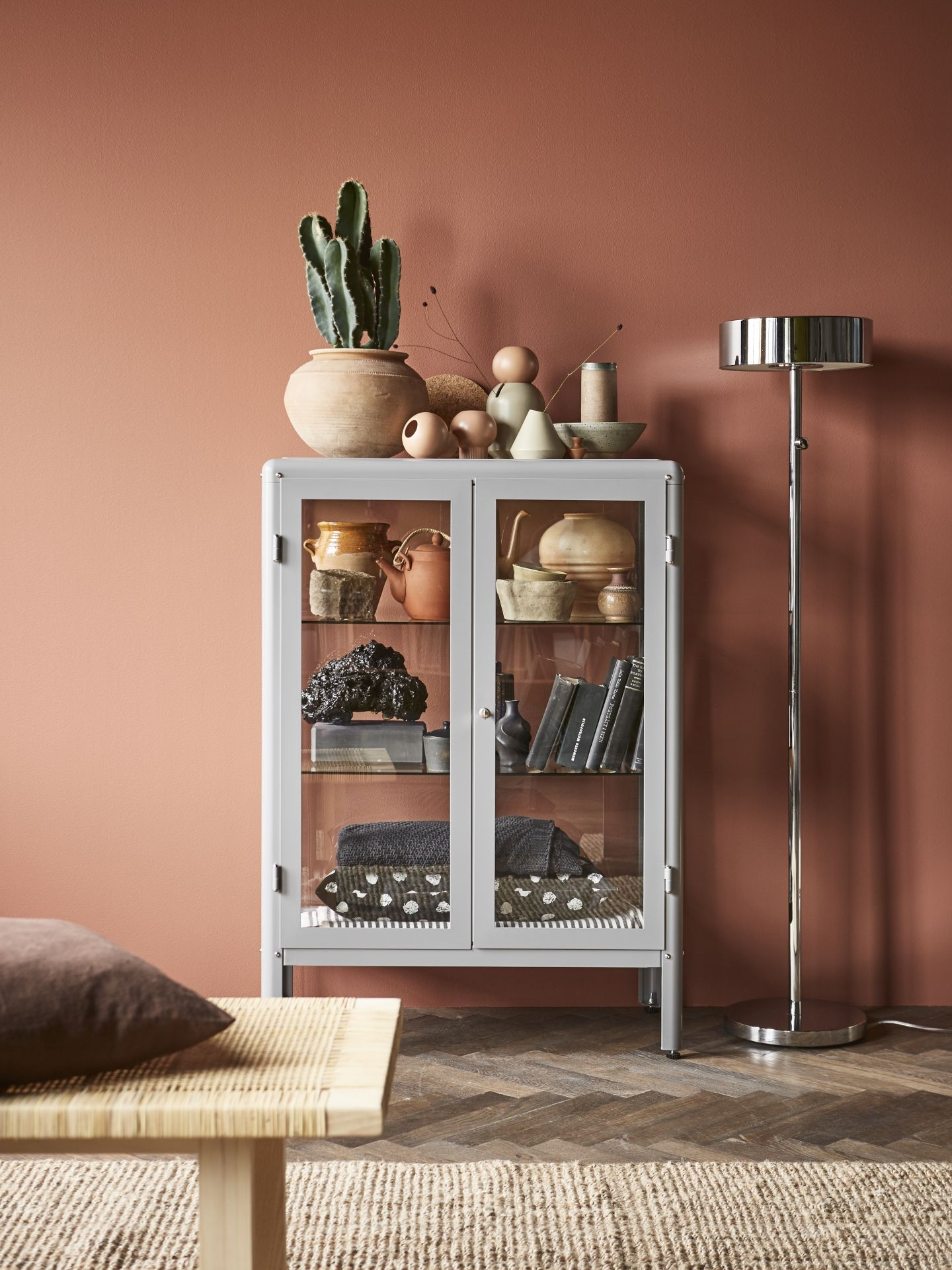 Try Ikea FabrikÖr Glass Door Cabinet In Grey With A You Can Show Off As Well Protect Your Glassware Or Favourite Collection