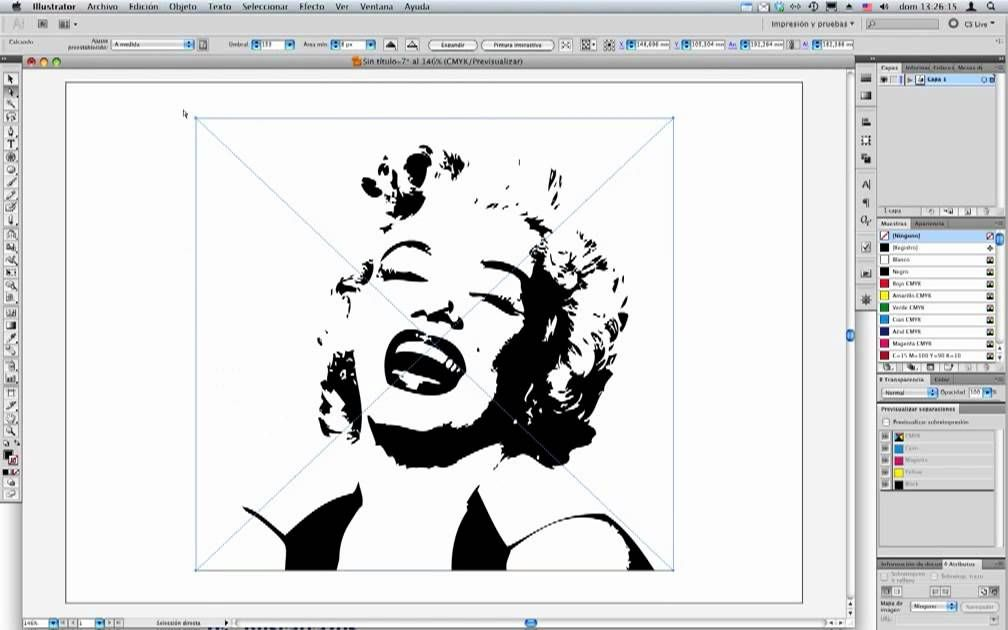 Illustrator CS5 - Calco interactivo