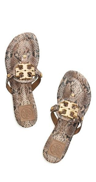 9f681276a NIB Tory Burch Miller 2 Doria Snake Print Sandals Sizes 7 8