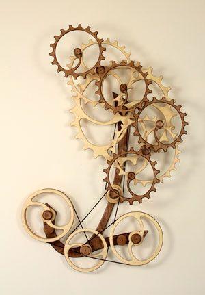 Gyration Kinetic Art Wood Sculpture Sculpture