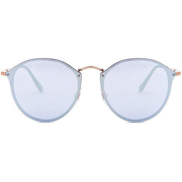 Ray-Ban Blaze Round (640 BRL) ❤ liked on Polyvore featuring accessories, 0d0330b6d8