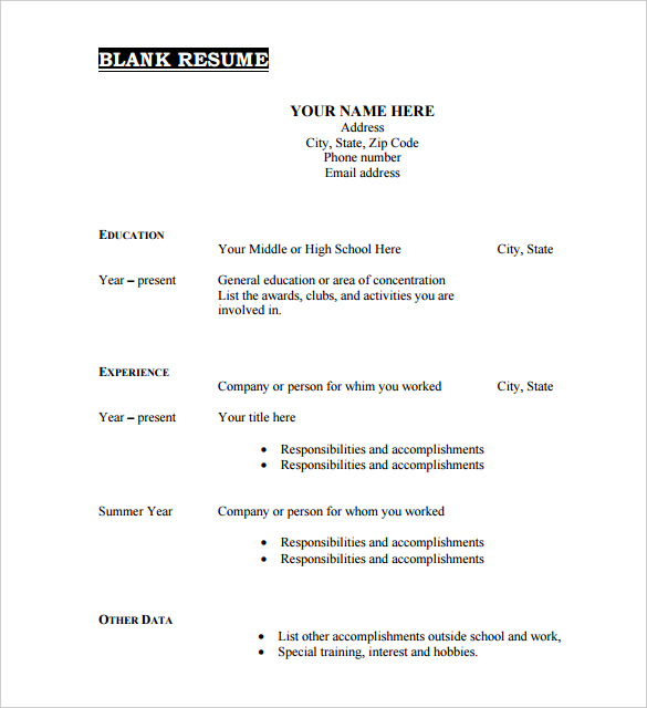 Free Blank Cv Template Download 2 Best Templates Ideas For You Best Templates I Free Printable Resume Downloadable Resume Template Resume Template Examples