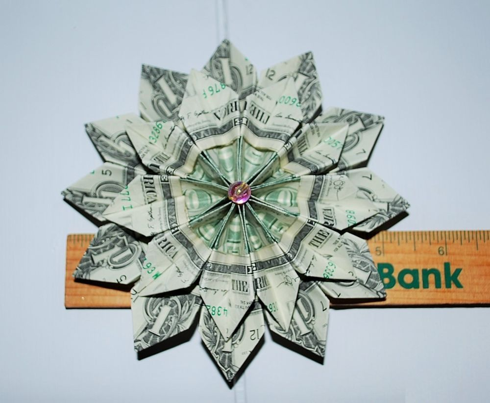 how to make money flowers origami