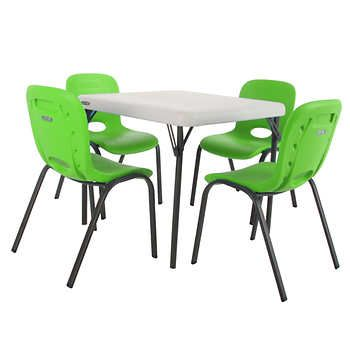 Lifetime Kids Table With 4 Lime Chairs Childrens Dental Office Kids Table Chairs Kids Folding Table Toddler Table Chairs