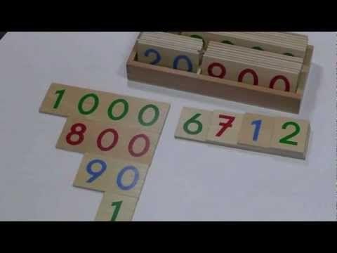 Zahlentafeln Aufschlagzahlen Zahlenkarten Montessori Material zur Freiarbeit