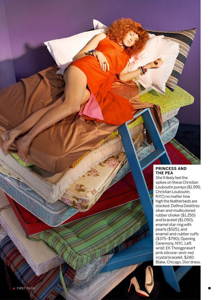 Going To Pieces I US Vogue I March 2013 I Model: Lily Cole I Photographer: Alex Prager I Editor: Elissa Santisi.
