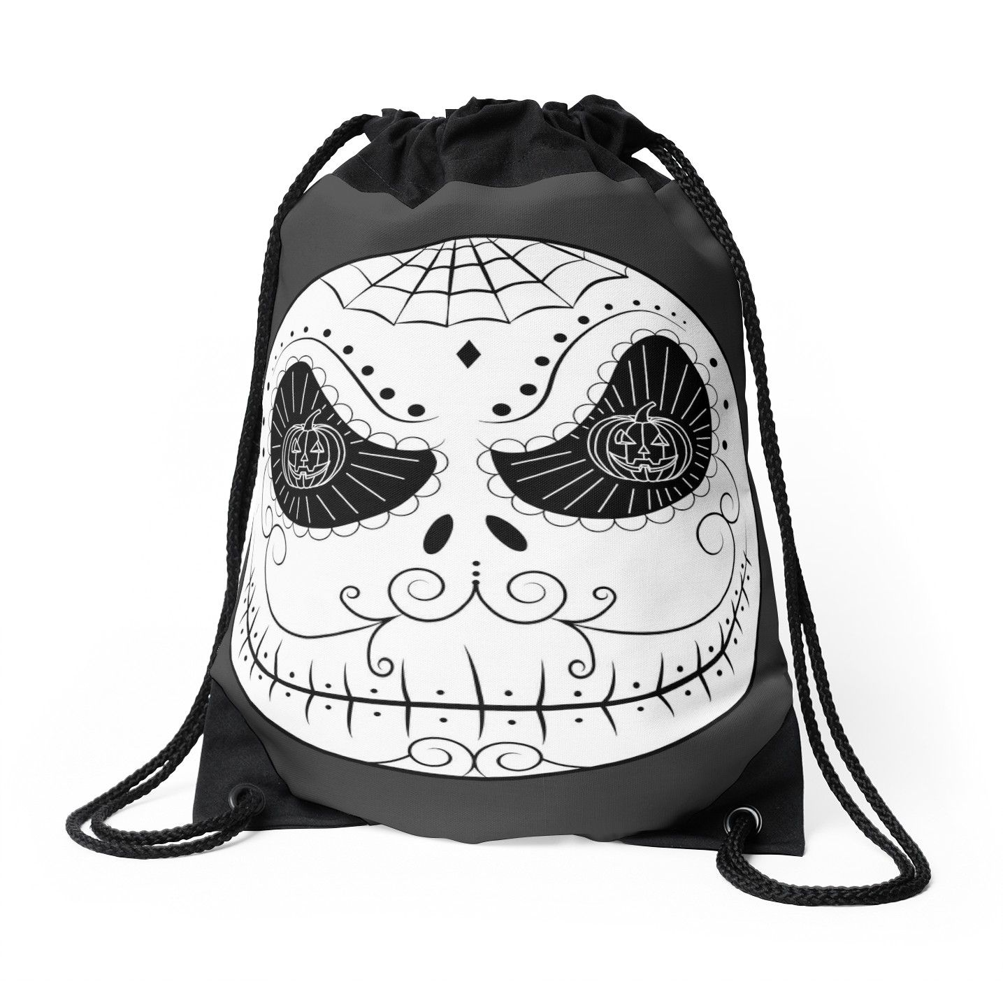 Cartoon Mexican Skull Sugar\' Drawstring Bag by Beatrizxe | Sugar ...
