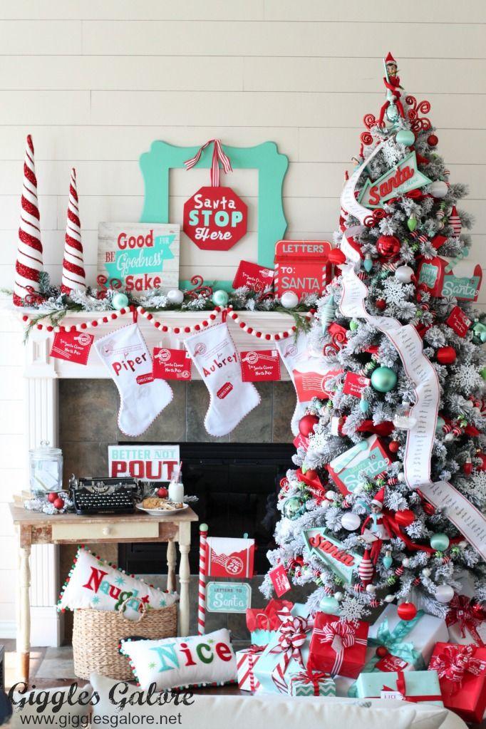 Polar Post Christmas Tree Michaels Dream Tree Challenge Turquoise Christmas Aqua Christmas Silver Christmas Decorations