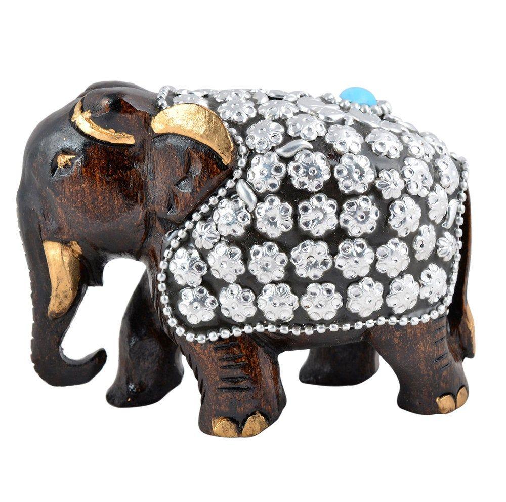truesellershop wooden elephant statue living room décor