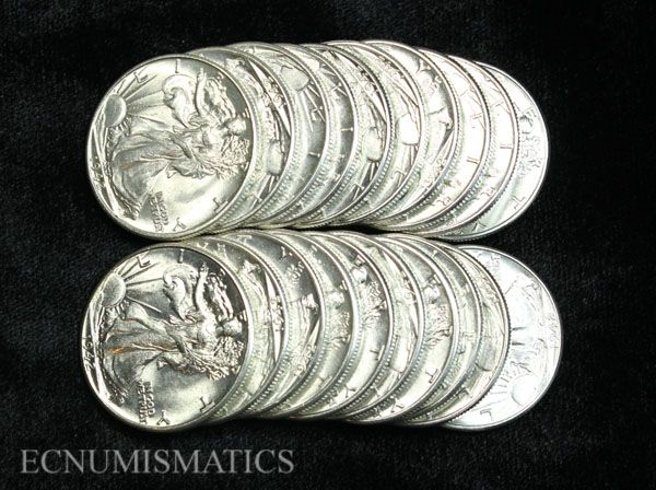 1941-P Walking Liberty Half Dollar Roll
