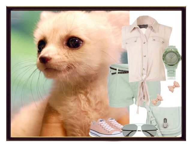 """""""fennec fox"""" by dgia ❤ liked on Polyvore featuring GUESS, Converse, Raoul, KBL Eyewear, Charlotte Russe and Oozoo"""