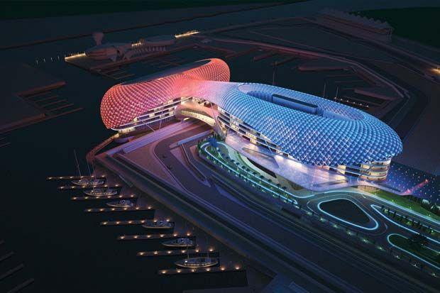 جزيرة ياس ابوظبي سحر الترفيه بكافة اشكاله Yas Hotel Abu Dhabi Abu Dhabi Grand Prix