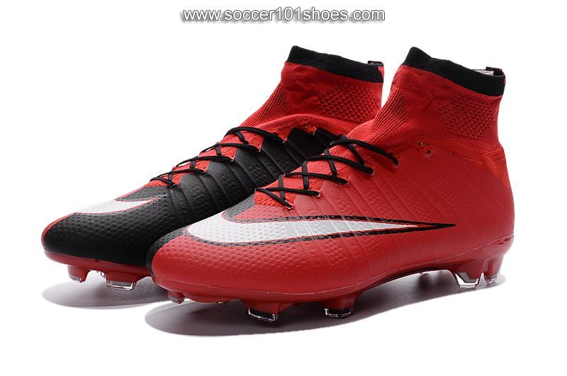 new styles a59b2 812f9 Nike Men s Mercurial Superfly ACC FG Hi Top Football Boot Soccer Cleats  Black Red  77.00