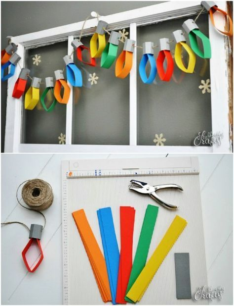 25 DIY Garland Ideas To Dress Up Your Home This Holiday Season -   19 diy christmas decorations for kids paper ideas