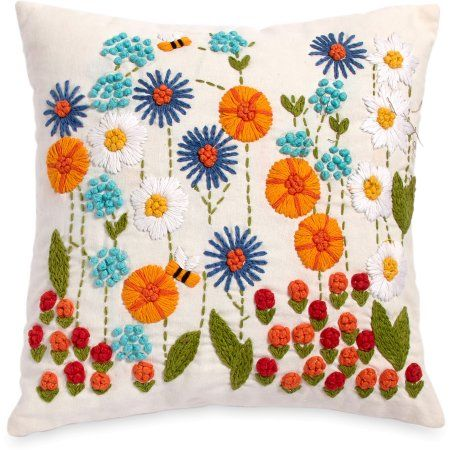 Free 2-day shipping on qualified orders over  35. Buy The Pioneer Woman  Ree s Garden 16x16 Decorative Pillow at Walmart.com 08628b8aca