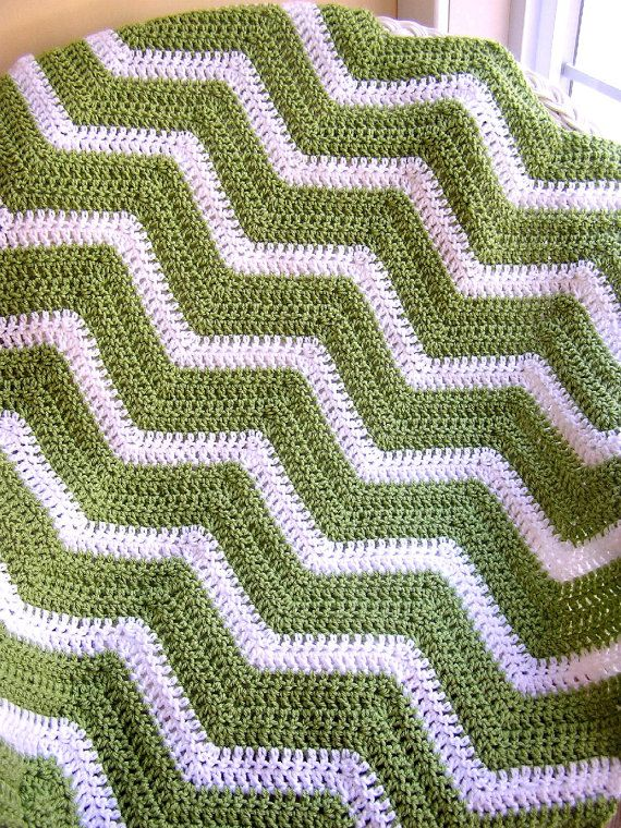 New Chevron Zig Zag Baby Blanket Afghan Wrap Crochet