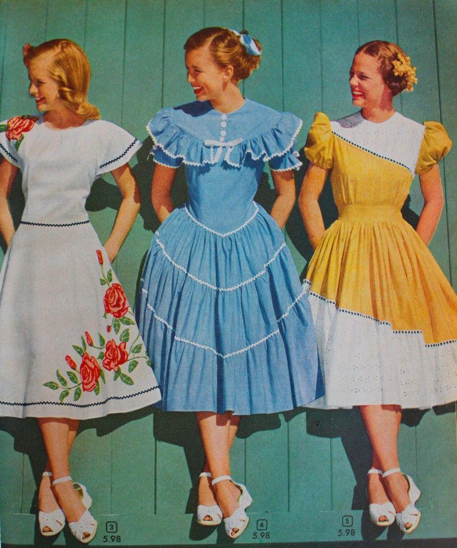cd00d7c81cf0 1940s Teenage Fashion: Girls | 1940s | Fashion, Fashion dresses ...