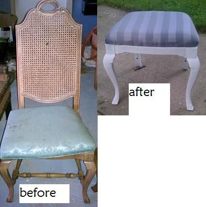 How To Turn Chairs Into Stools Amp Ottomans She S Craftay