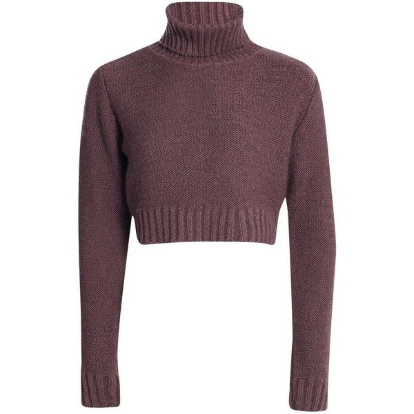 Nicole Turtle Neck Crop Jumper ($19) ❤ liked on Polyvore featuring tops, sweaters, shirts, crop top, clothes - tops, shirt sweater, turtleneck shirt, purple sweater, purple turtleneck and purple top