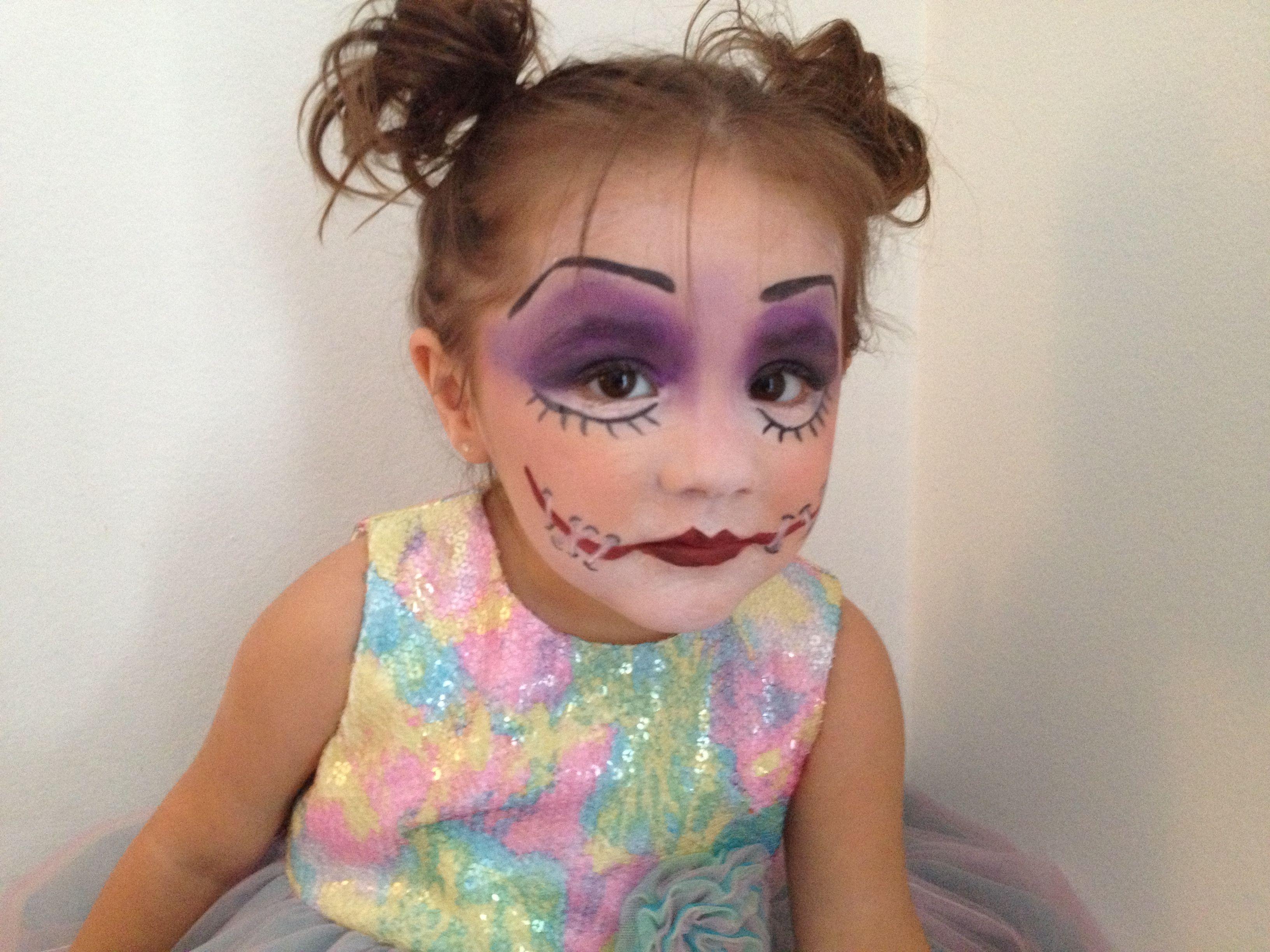 Creepy little doll face painting, great Halloween makeup idea ...