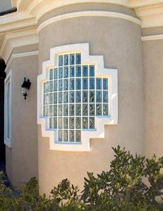 Eastern Glass Block Modern Exterior Window