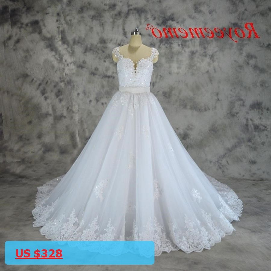2017 new design lace Wedding dress removable Ball gown skirt hot ...