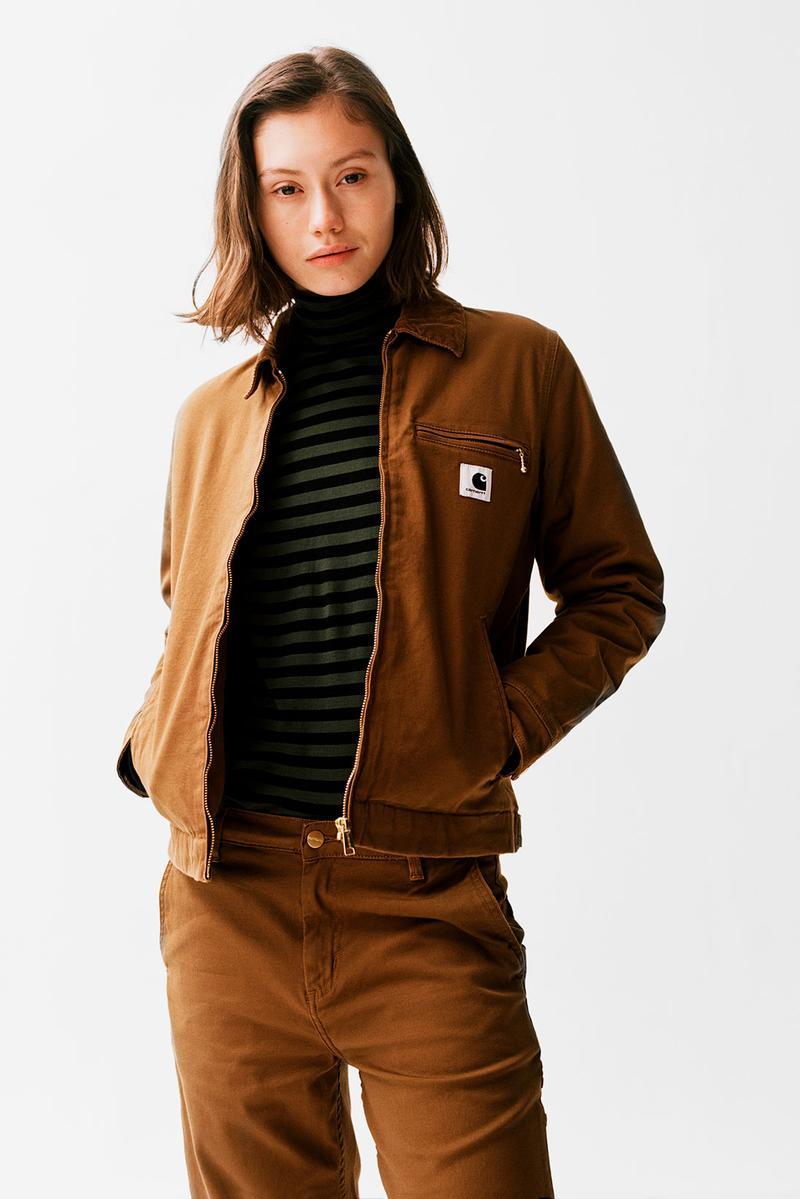 Get Warm And Cozy In Carhartt Wip S Monochrome Fw19 Items Jacket Outfit Women Carhartt Bomber Jacket Carhartt Jacket [ 1199 x 800 Pixel ]