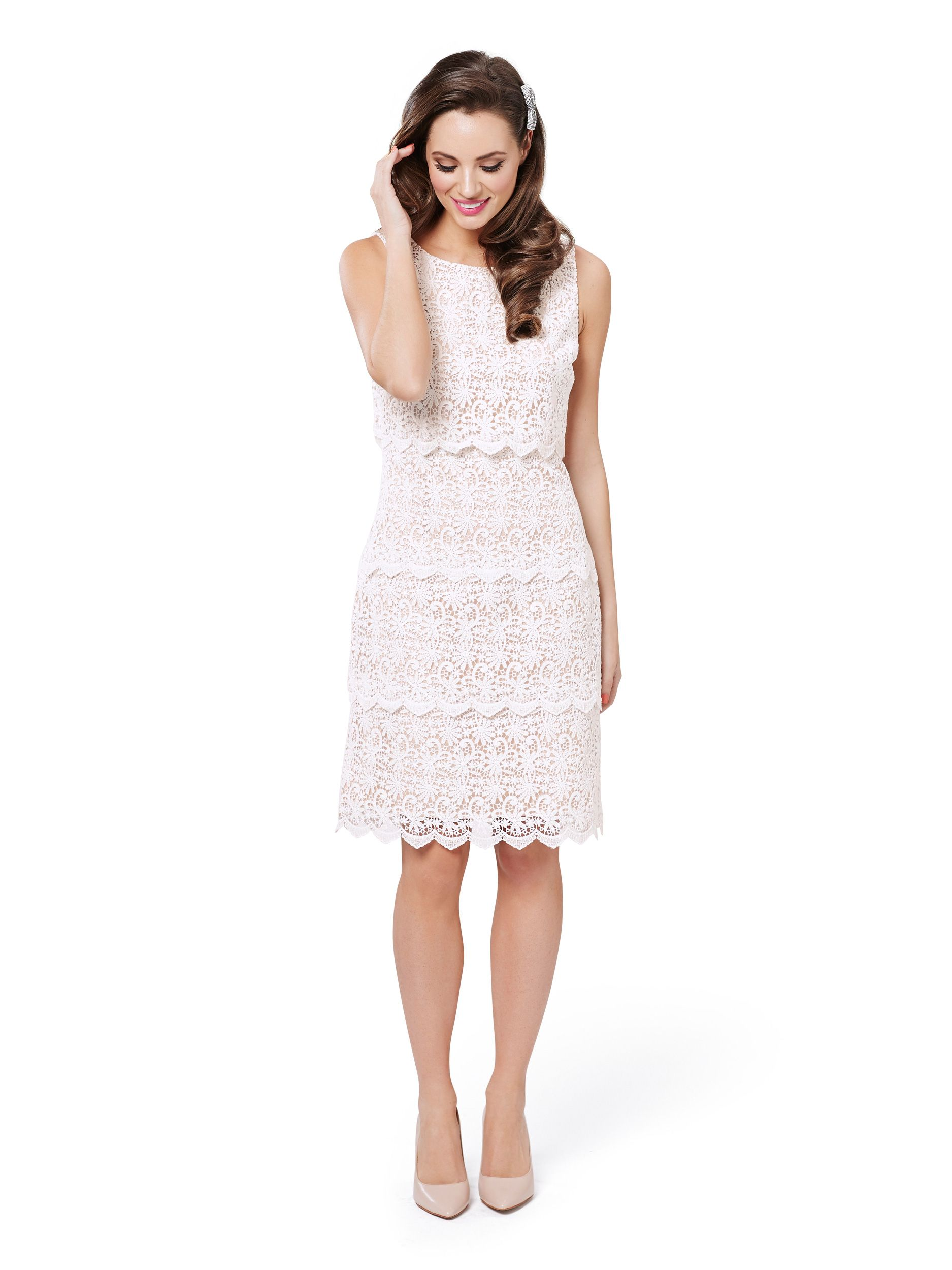 46a1dd0144d1 Moonflower Dress | Cream and Nude | Dresses | Autumn/Winter 2017