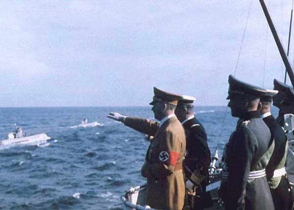 Horthy and Hitler observing Kriegsmarine U-Boats, 1938
