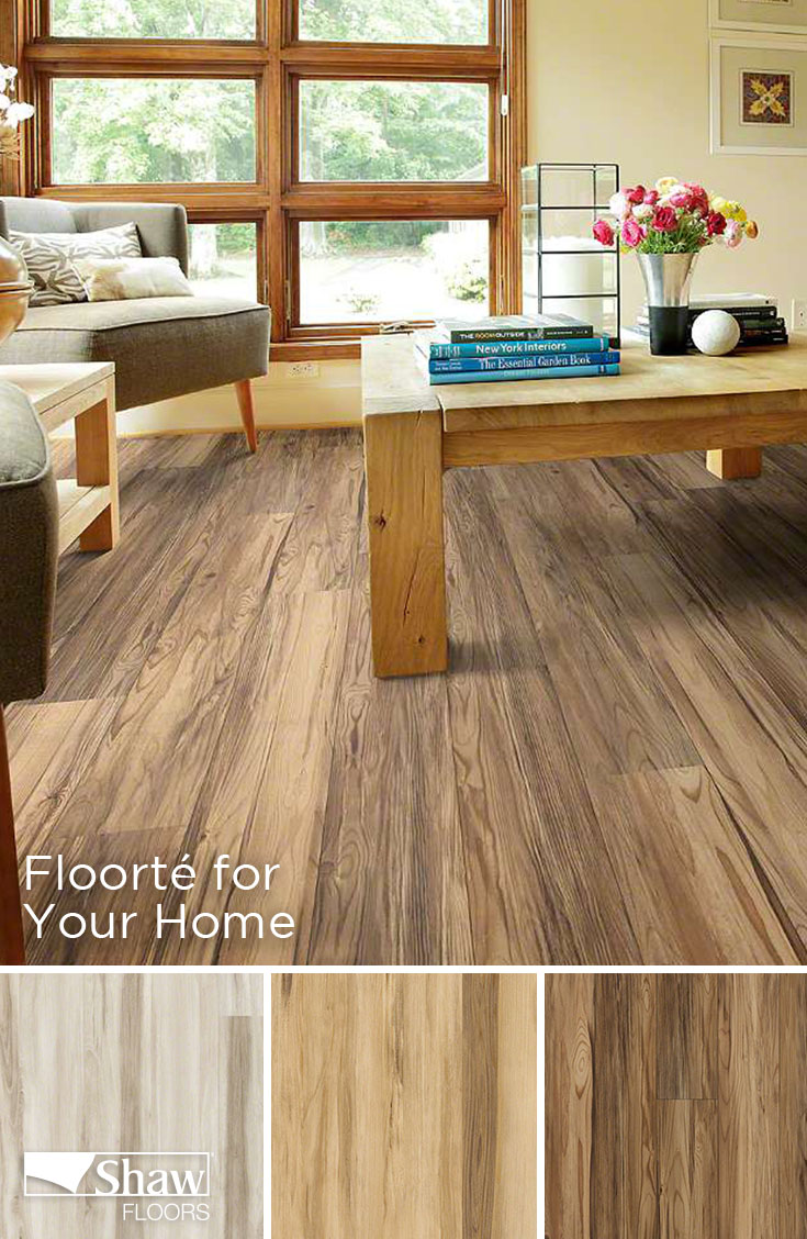 Floorté uses highdefinition printing for a hardwood or