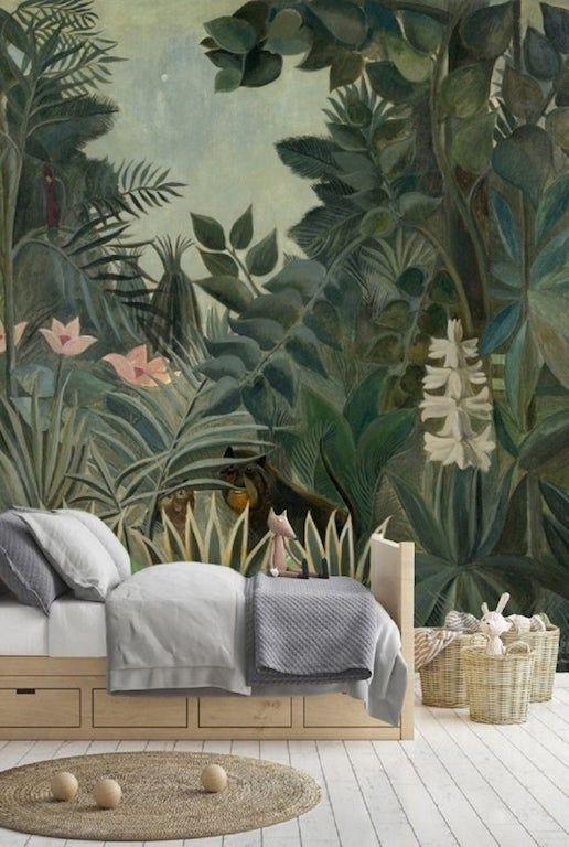 Le papier peint jungle panoramique de style antique: la tendance dépaysante