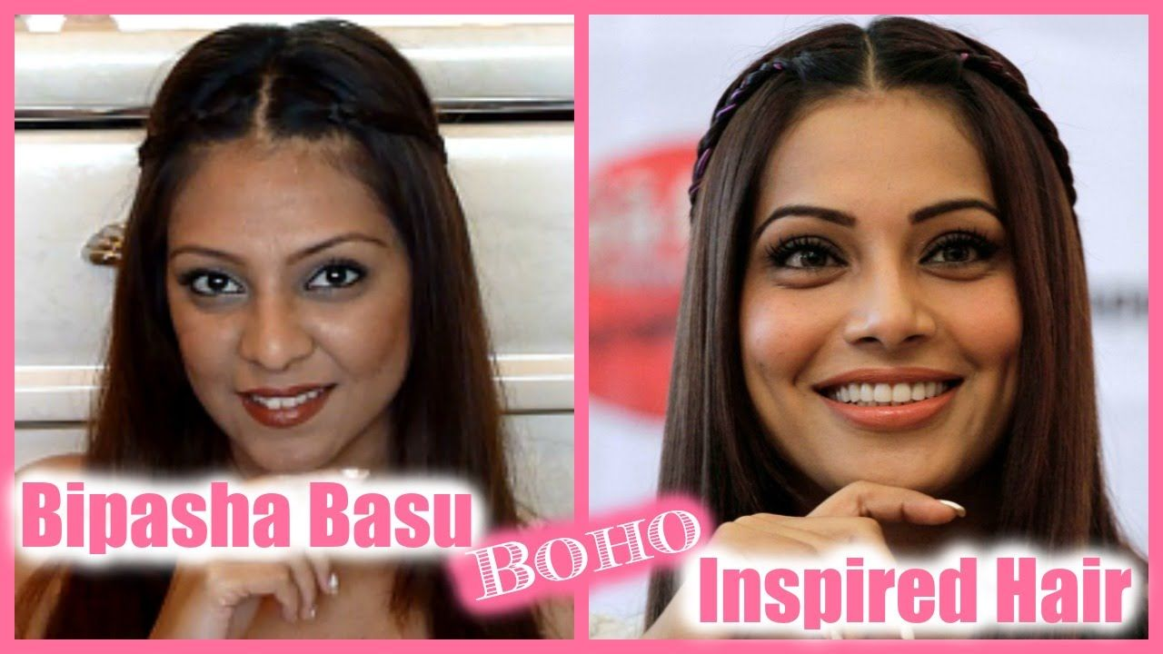 Bipasha Basu Inspired Boho Hair Tutorial Bollywood Diy Hairstyle