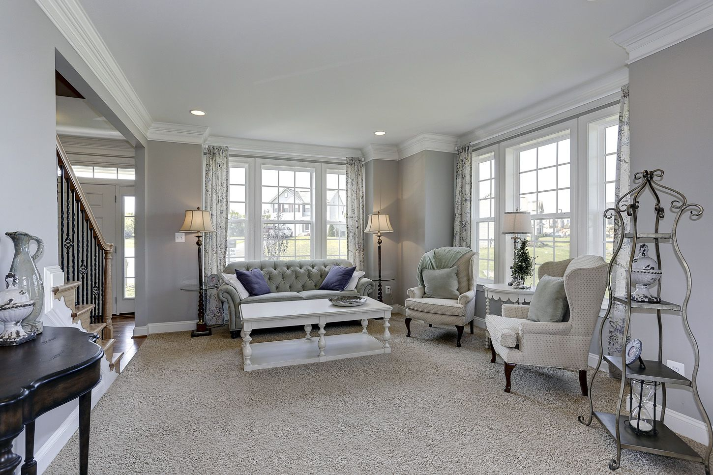 Inviting Sitting Area At The Dartmouth Ii Sheridan Estates By Dan Ryan Builders Home Style Ideas