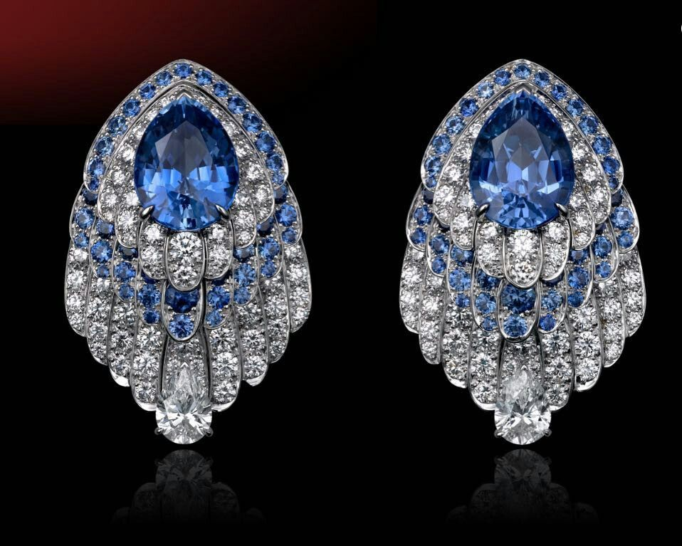 Cartier High Jewellery Sapphire Earring.. Unique Piece