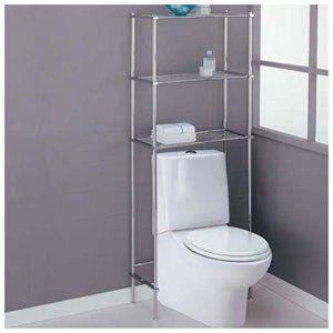 Chrome Over Toilet Shelves 3 Shelf Bath Storage Rack Spa
