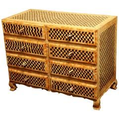 Checkered Horn and Bone Chest of Drawers