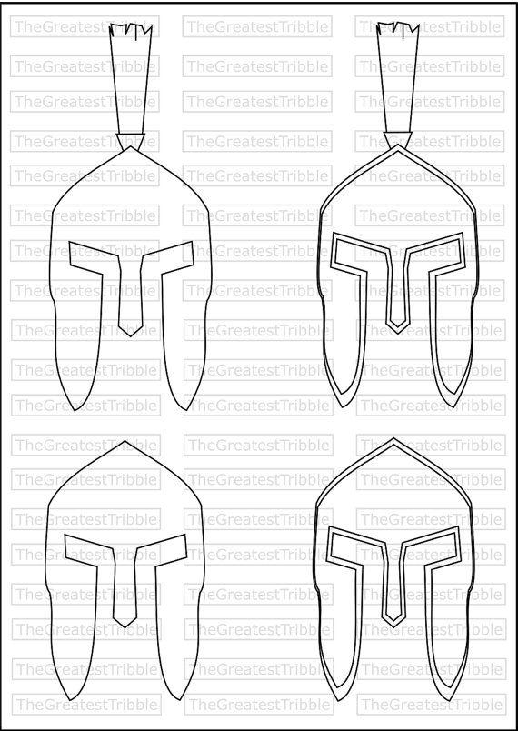 Spartan Helmet Front Eps Svg Png Jpg Vector Graphic Clip Art Etsy Spartan Helmet Svg Leather Holster