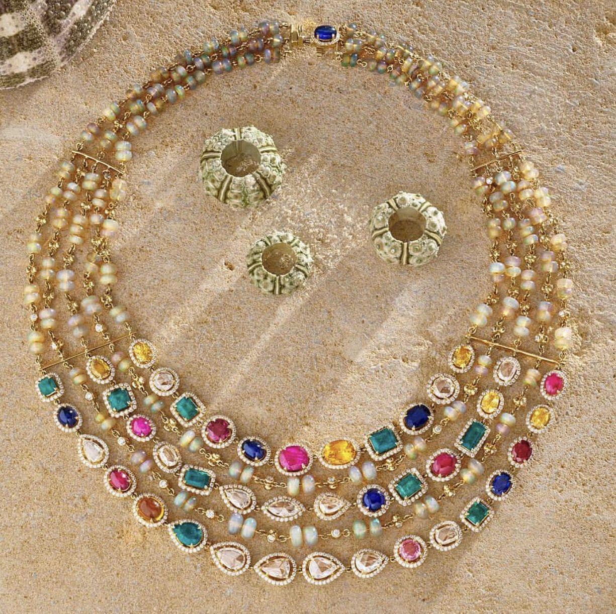 Pin by manoj kadel on diamond necklaces colour stone u perls