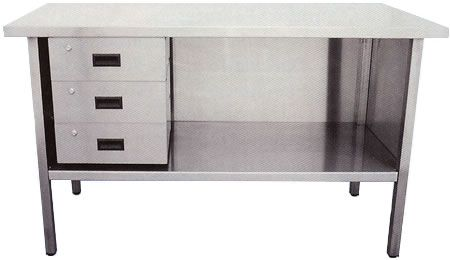 Stainless Steel Workbenches With Shell 3 Drawers Across Steel Tables Steel Workbench Steel Table Workbench With Drawers