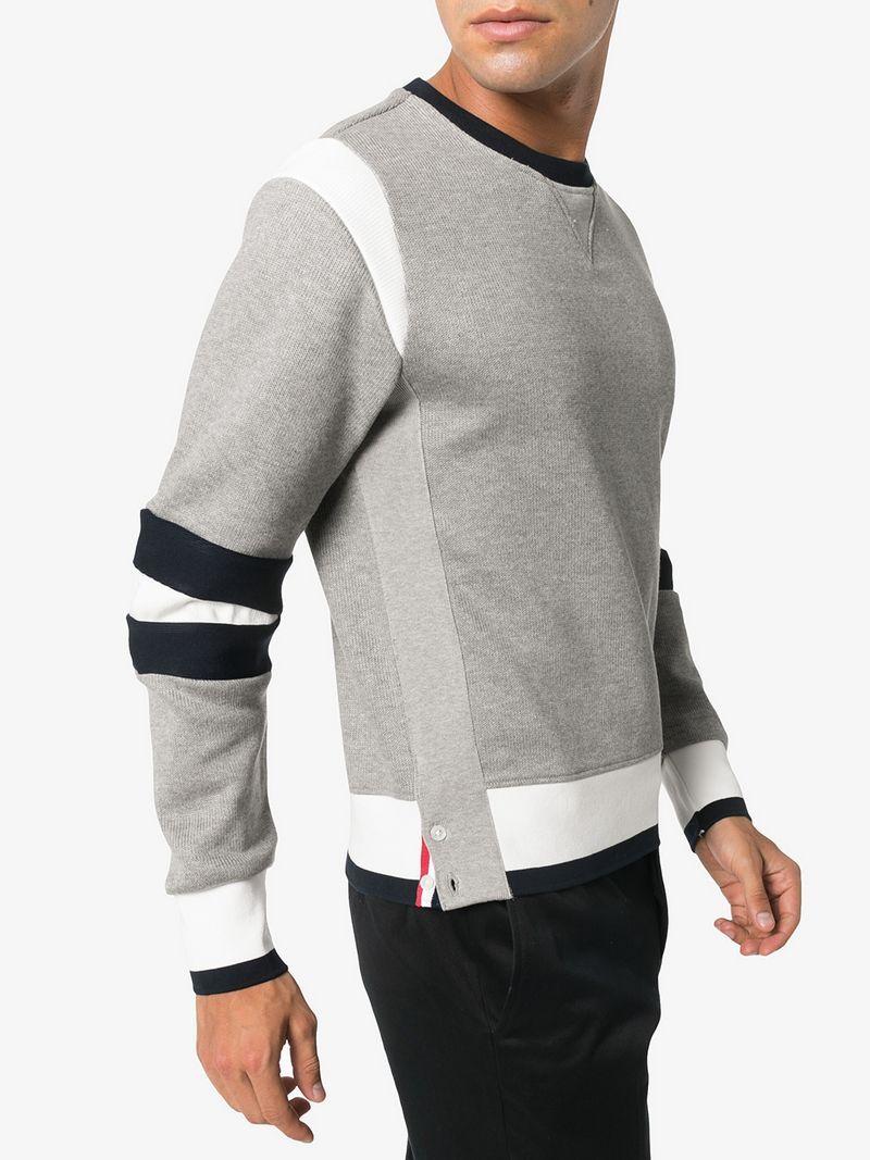 0212ddab63e1 Thom Browne Articulated Chunky Jersey Sweatshirt