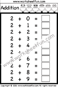 basic addition facts 0 9 ten worksheets kindergarten worksheets pinterest addition. Black Bedroom Furniture Sets. Home Design Ideas