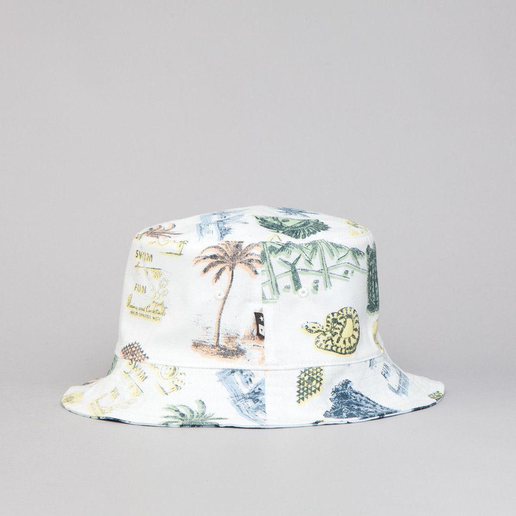 8ef35ba7b6d Fourstar Koston Reversible Bucket Hat White at Flatspot