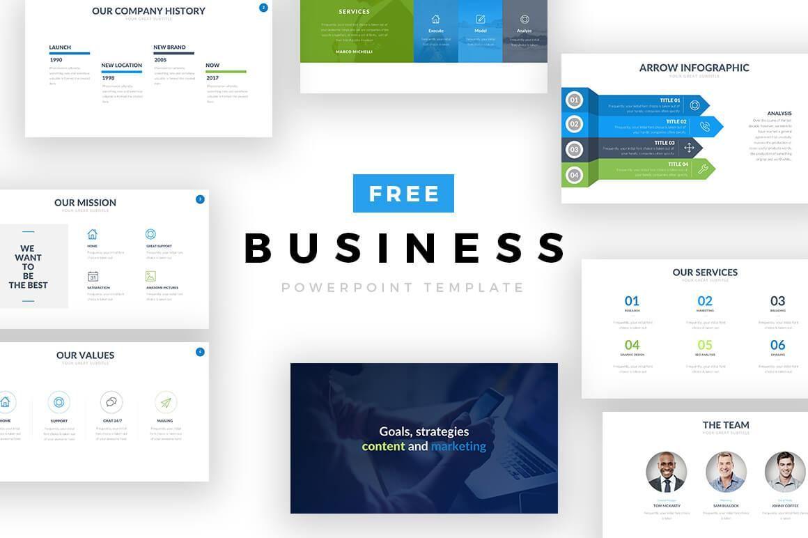Business Free Powerpoint Template Cool Powerpoint