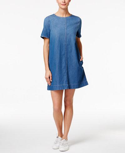 79.50$  Buy here - http://vioex.justgood.pw/vig/item.php?t=vdpt2s34881 - Cotton Denim Shift Dress 79.50$
