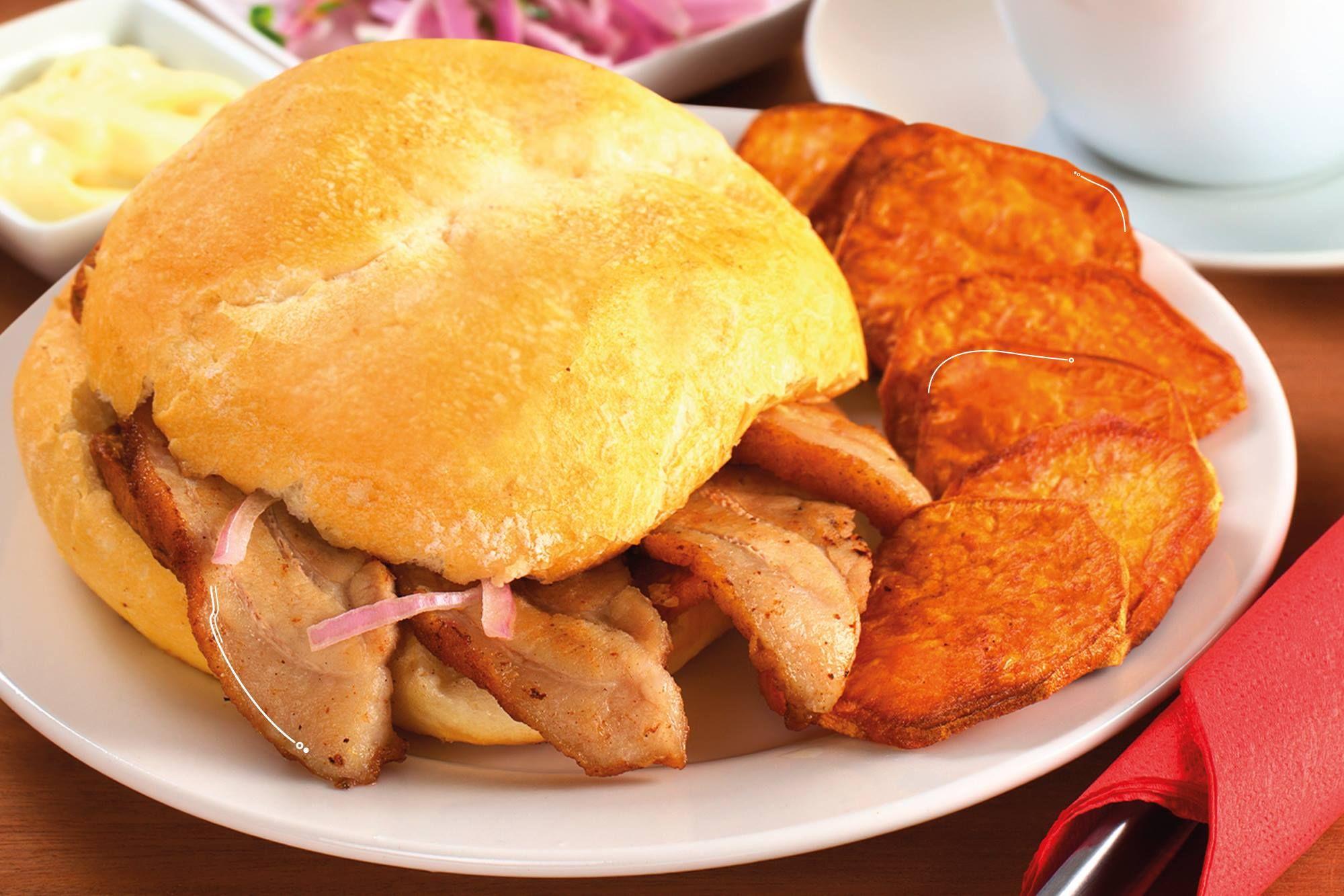 Pan con Chicharon
