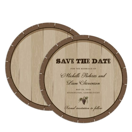Wedding Paper Divas Charming Cask Save The Date Card