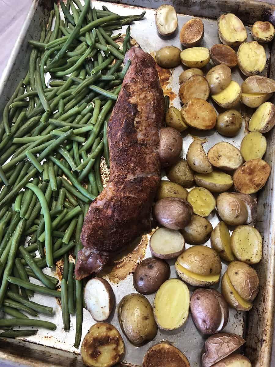 Pork Tenderloin Sheet Pan Dinner with Vegetables | Recipe ...
