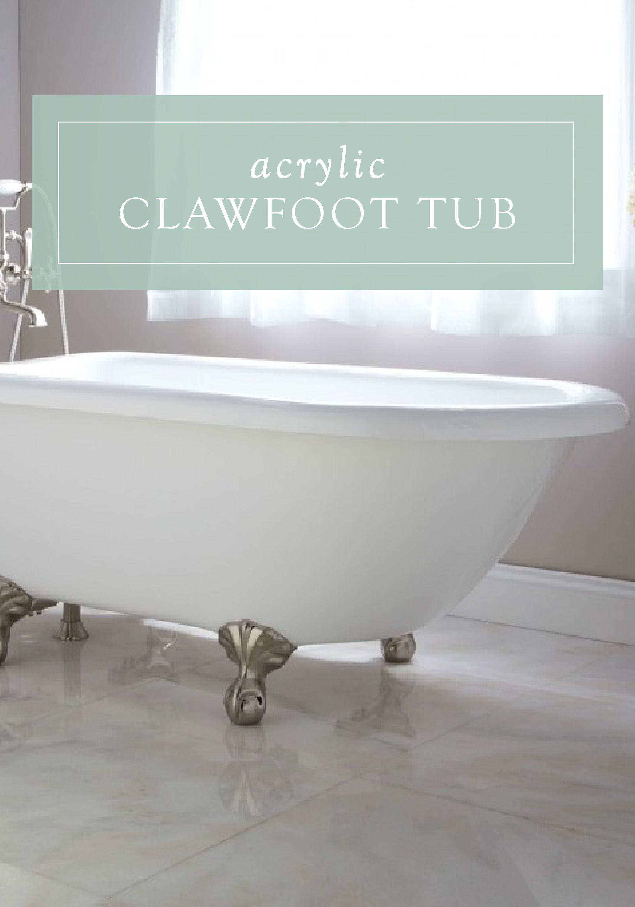 Rayne Acrylic Clawfoot Tub | Tubs, Master bedroom and Traditional