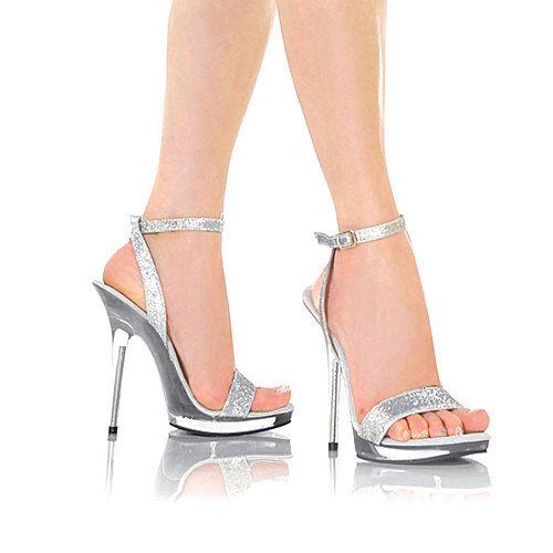 Silver 5 Inch Heels