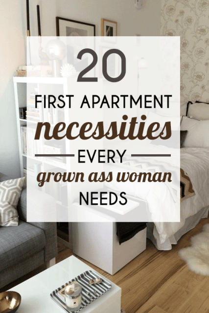 20 First Apartment Necessities Every Grown-Ass Woman Needs #firstapartment